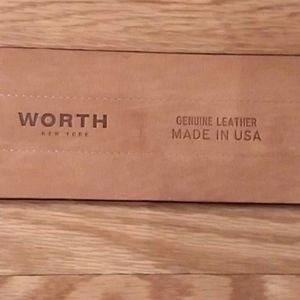 Worth leather belt,  sz. Small. EUC